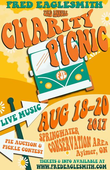 Fred Eaglesmith's 23rd Annual Charity Picnic Poster